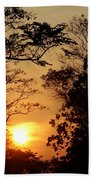 Sunset At Jungle Bath Towel