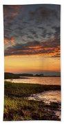 Sunset At Kent Narrows Bath Towel