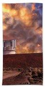 Sunset At Mauna Kea Summit Bath Towel