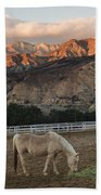 Sunset At Rancho Oso Bath Towel