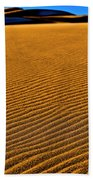 Sunset At The Great Sand Dunes National Bath Towel