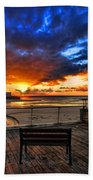 sunset at the port of Tel Aviv Hand Towel