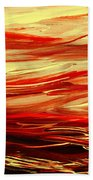 Sunset At The Red River Abstract Bath Towel