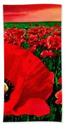 Sunset California Poppy Preserve Bath Towel