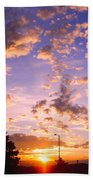 Sunset Clouds Bath Towel