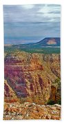 Sunset Crater View From Desert View On East Side Of South Rim Grand Canyon National Park-arizona  Bath Towel