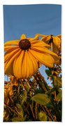 Sunset Flowers Bath Towel