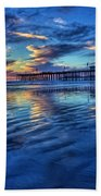Sunset In Blue Hand Towel