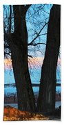 Sunset In The Trees Bath Towel