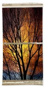 Sunset Into The Night Window View 3 Bath Towel