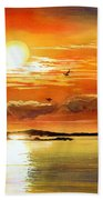 Sunset Lake Bath Towel