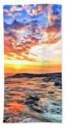Sunset Near Old Kona Airport Bath Towel
