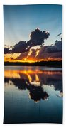 Sunset On Little Pine Lake Bath Towel