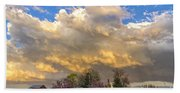 Sunset On Mixed Clouds Hand Towel