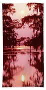Sunset On The Bayou Atchafalaya Basin Louisiana Bath Towel