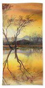 Sunset On The Lake  Bath Towel