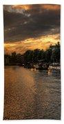 Sunset Over Amsterdam  Bath Towel