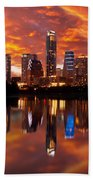 Sunset Over Austin Bath Towel
