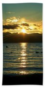 Sunset Over Lake Tahoe Bath Towel