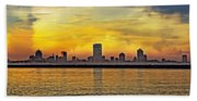 Sunset Over Milwaukee Bath Towel