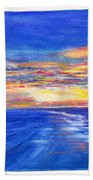 Sunset Over Point Lonsdale As Viewed From Cape Schanck  Bath Towel