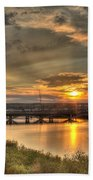 Sunset Over The Great Falls Bath Towel