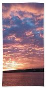 Sunset Over The Narrows Waterway Bath Towel