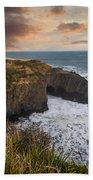 Sunset Over The Oregon Coast Bath Towel