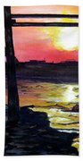 Sunset Pier Bath Towel