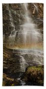 Sunset Rainbow At Amicalola Falls Bath Towel
