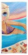 Sunset Surfer Bath Towel