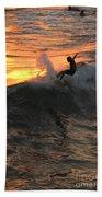 Sunset Surfers Bath Towel