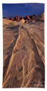 Sunset Valley Of Fire State Park Nevada Bath Towel