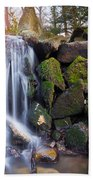 Sunset Waterfalls In Marlay Park Bath Towel
