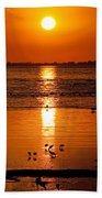 Sunset With The Birds Photo Bath Towel