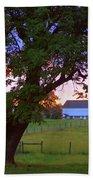 Sunset With Tree Bath Towel