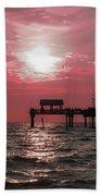Sunsetting On The Gulf Bath Towel