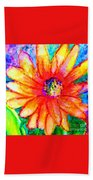 Sunshine Flower Hand Towel