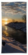 Sunshine On The Ice - Lake Ontario Toronto Canada Bath Towel