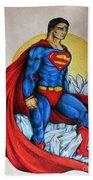 Superman Lives On Bath Towel