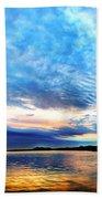 Sureal Pewaukee Lake Sunrise Bath Towel