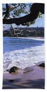 Surf On The Beach, Mauna Kea, Hawaii Bath Towel