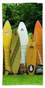 Surfboard Fence Maui Bath Towel