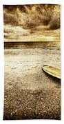 Surfboard On The Beach 2 Bath Towel