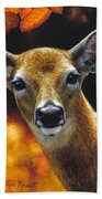 Whitetail Deer - Surprise Bath Towel by Crista Forest