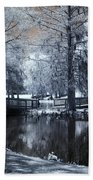 Surreal Dreamy Fantasy Nature Infrared Landscape - Edisto Park South Carolina Bath Towel