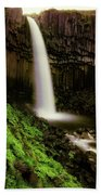 Svartifoss Waterfall, Skaftafell Bath Towel