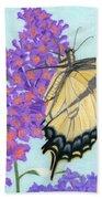 Swallowtail Butterfly And Butterfly Bush Bath Towel
