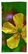 Swamp Buttercup Near Loon Lake In Sleeping Bear Dunes National Lakeshore-michigan  Bath Towel