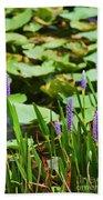 Swamp Flowers  Bath Towel